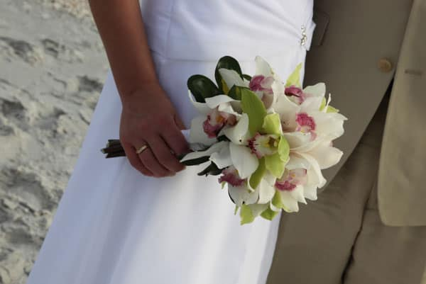 Simple Wedding On Beach With Orchids Click Photo To Enlarge